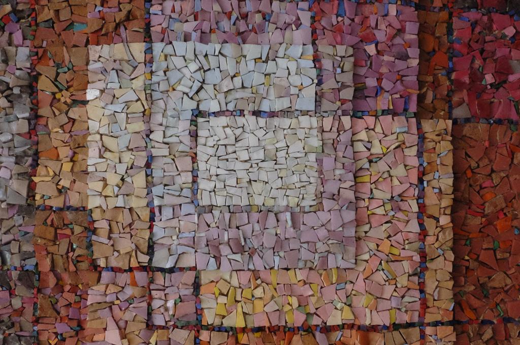 paul klee bianco polifonicamente incorniciato mosaico particolare