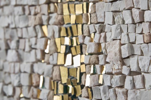 mosaico oro marmi