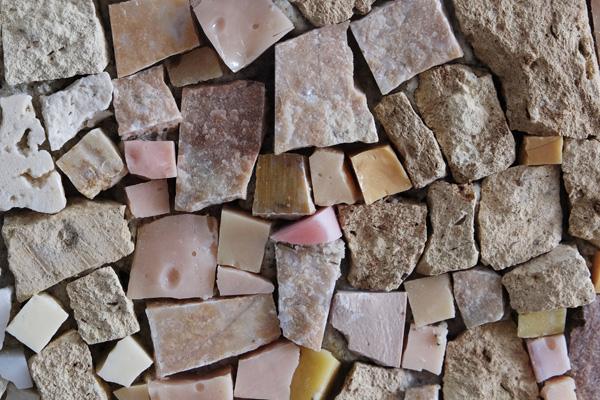 mosaico materiali naturali
